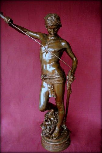 David winner - Antonin Mercié (1854-1916) - Sculpture Style