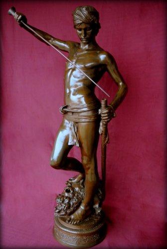 Sculpture  - David winner - Antonin Mercié (1854-1916)