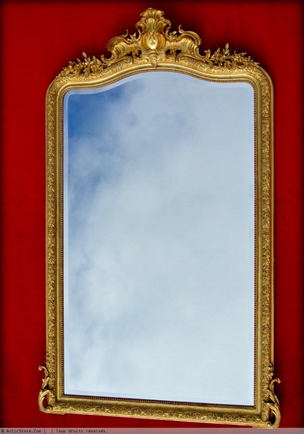 Grand miroir fronton xixe si cle for Grand miroir large