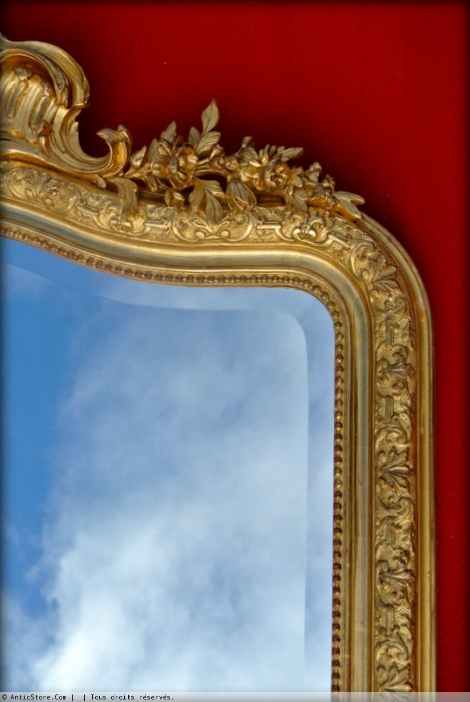 Grand miroir fronton xixe si cle for Grand miroir large