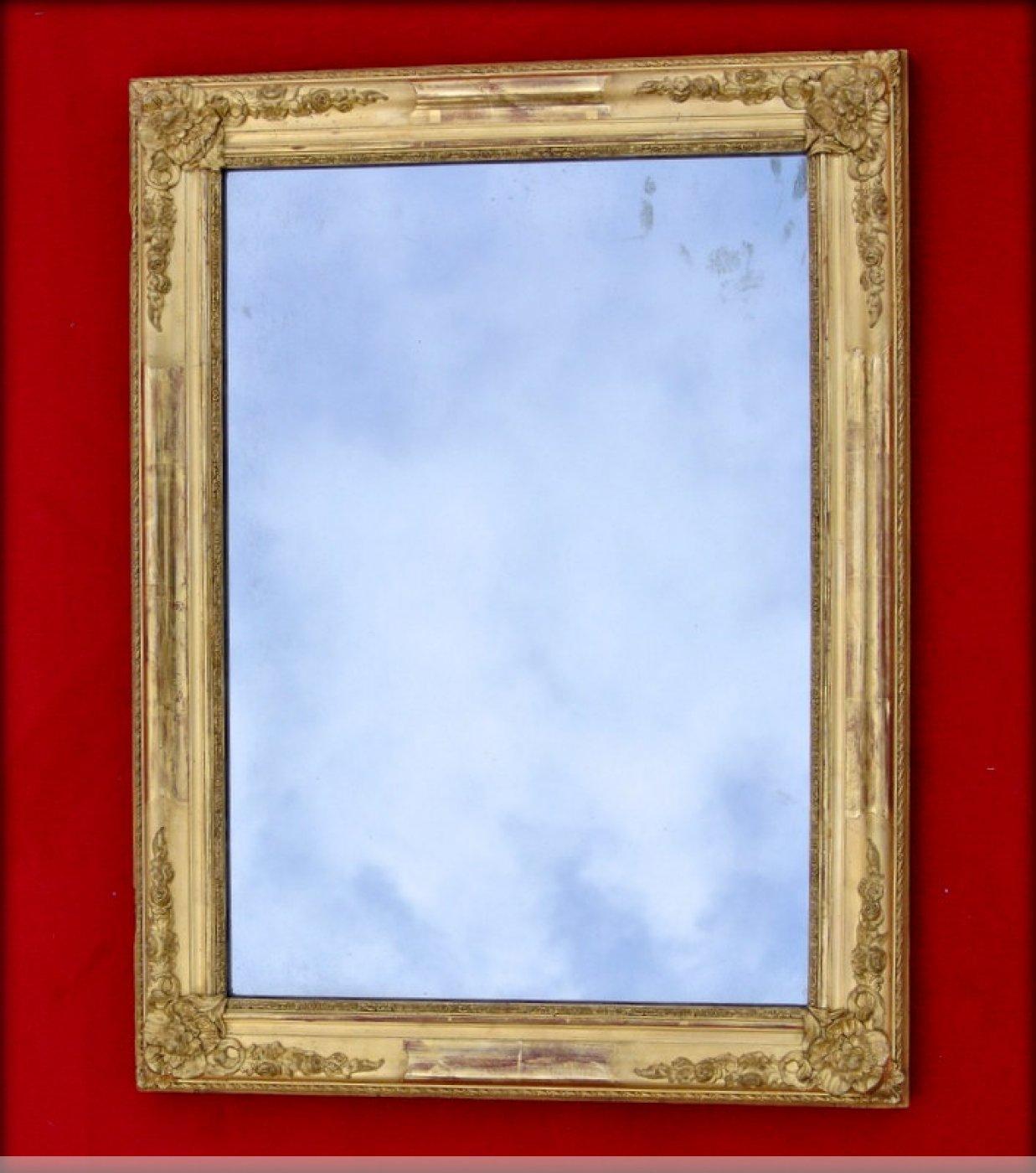Petit miroir d 39 poque restauration xixe si cle for Restauration miroir ancien