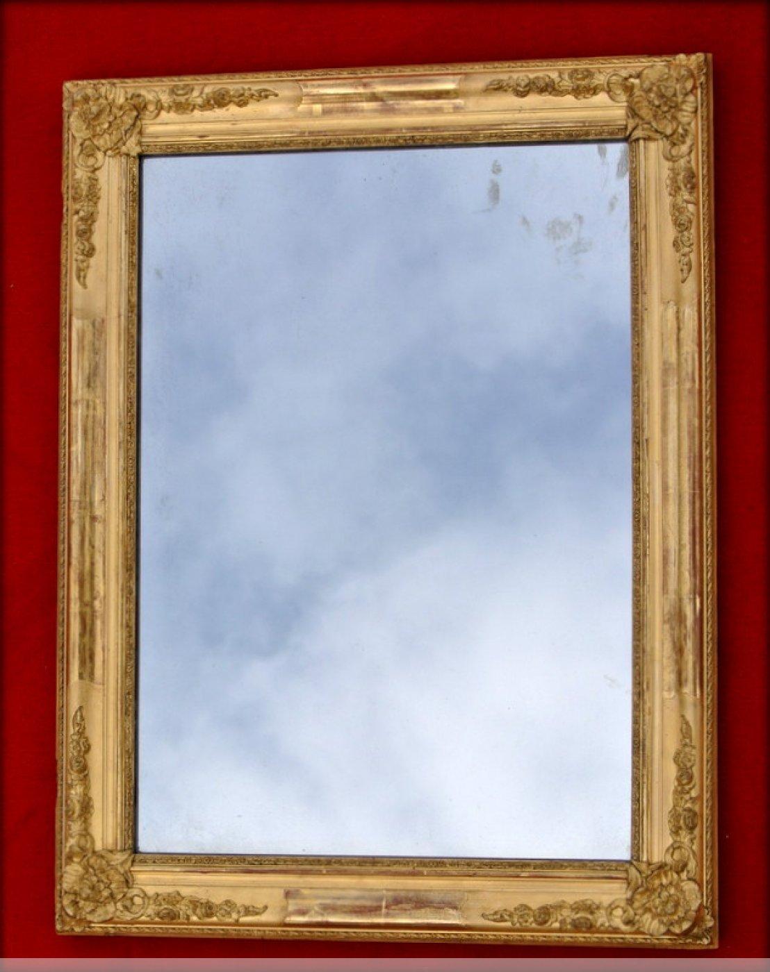 Petit miroir d 39 poque restauration xixe si cle for Miroir petit