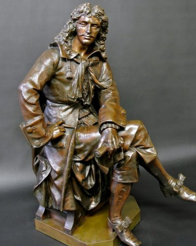 Bronze moliere statue