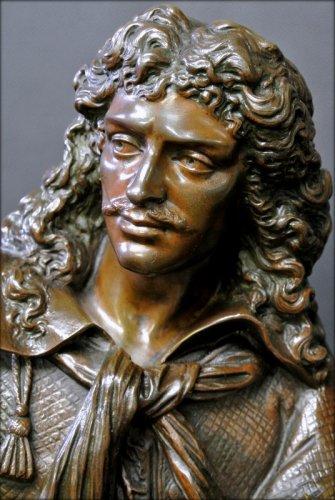 Bronze moliere statue -