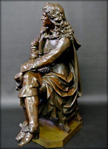 19th century - Bronze moliere statue