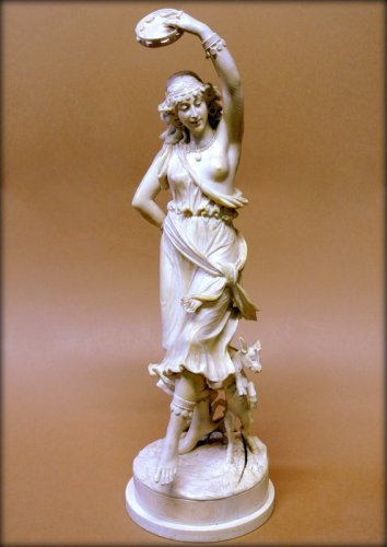 Esmeralda and her goat djali ivory sculpture of the late 19th century