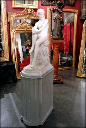 """Chloé"" marble sculpture signed  A VASSELOT - Sculpture Style Napoléon III"