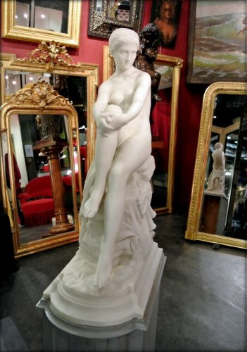 "Sculpture  - ""Chloé"" marble sculpture signed  A VASSELOT"