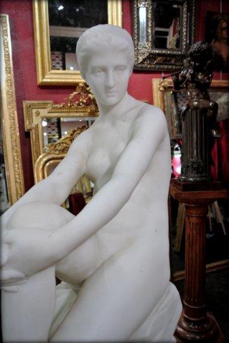 """Chloé"" marble sculpture signed  A VASSELOT -"