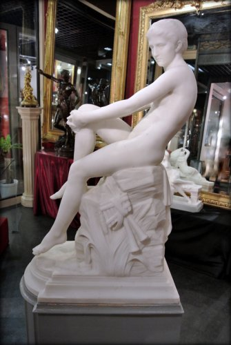 "19th century - ""Chloé"" marble sculpture signed  A VASSELOT"