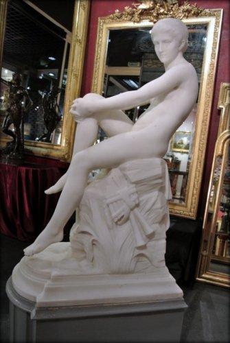 """Chloé"" marble sculpture signed  A VASSELOT - Napoléon III"