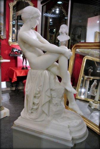 """Antiquités - """"Chloé"""" marble sculpture signed  A VASSELOT"""