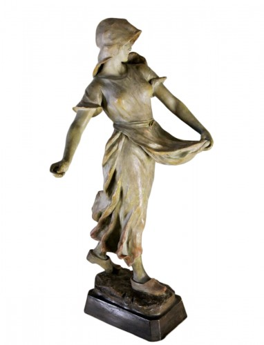 """""""Sowing"""" statue in terracotta by CHERC"""