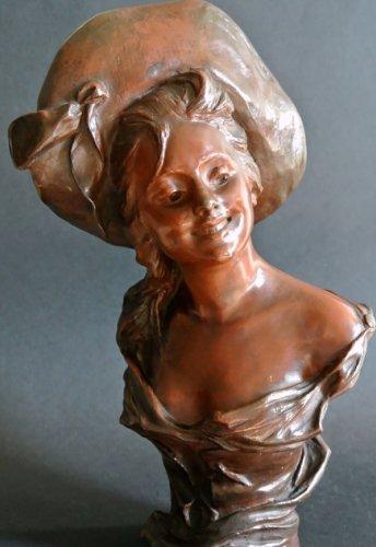 VAN DER STRAETEN Statue of Art Nouveau period