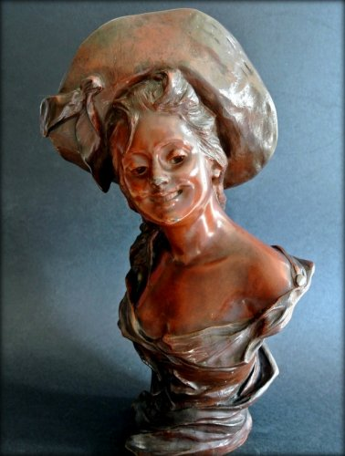 VAN DER STRAETEN Statue of Art Nouveau period -