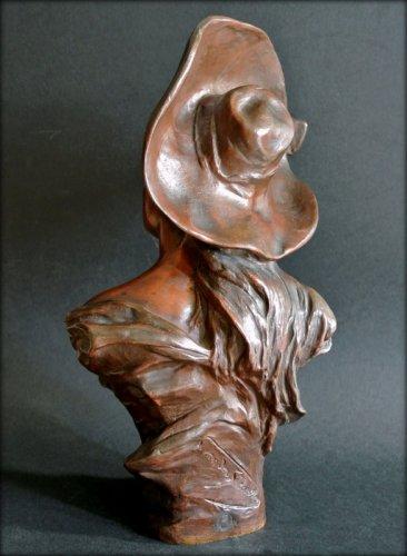 19th century - VAN DER STRAETEN Statue of Art Nouveau period