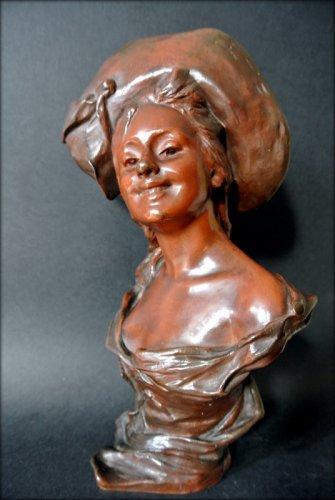 Art nouveau - VAN DER STRAETEN Statue of Art Nouveau period