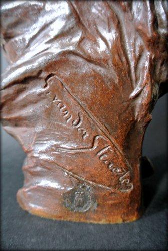 Antiquités - VAN DER STRAETEN Statue of Art Nouveau period