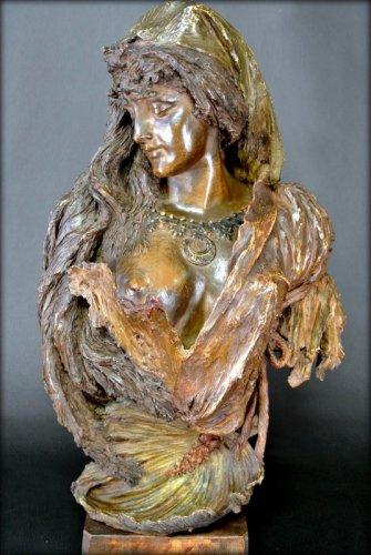 Bust terracotta Art Nouveau style - Sculpture Style Art nouveau