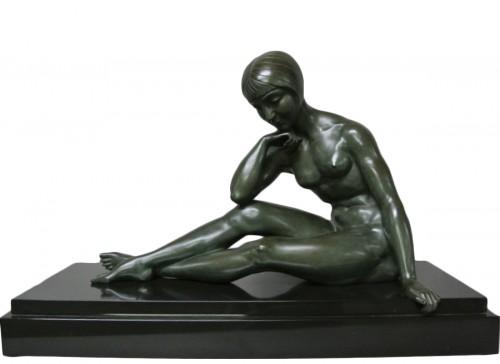 Morante signed bronze statue