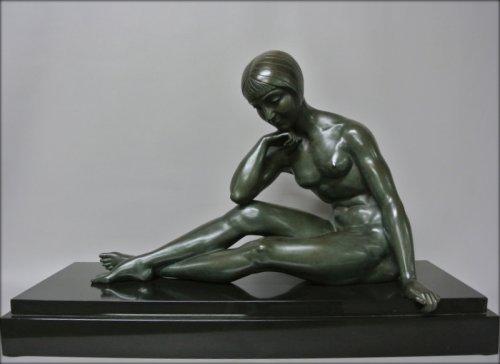 Morante signed bronze statue - Sculpture Style Art Déco