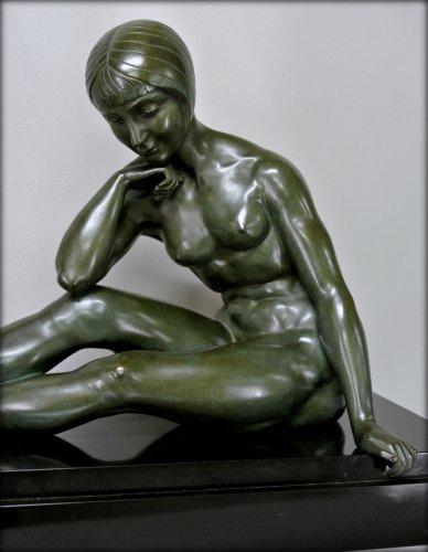 Morante signed bronze statue -