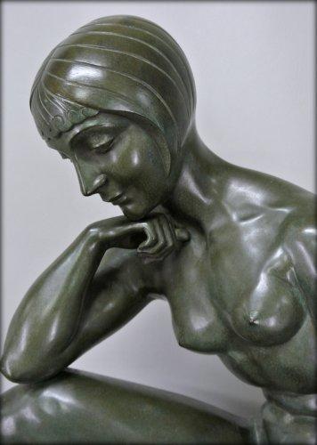 Morante signed bronze statue - Art Déco