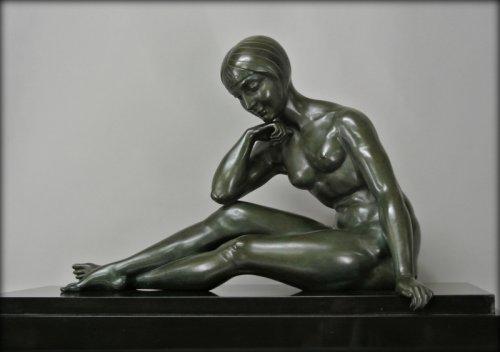 Art Déco - Morante signed bronze statue
