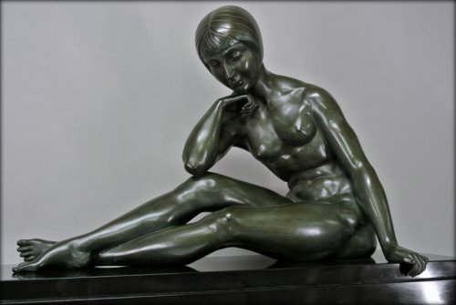 Antiquités - Morante signed bronze statue
