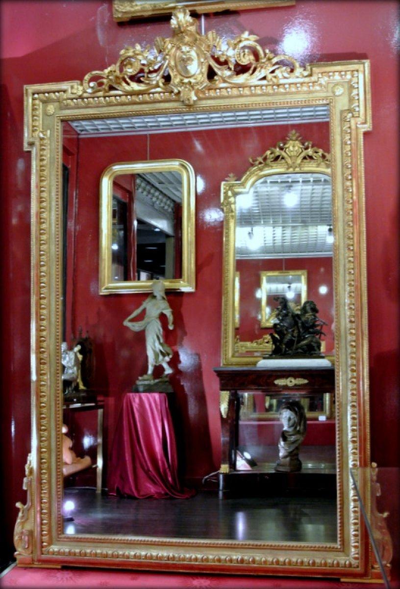 Miroir fronton fin xixe si cle for Miroir xix siecle