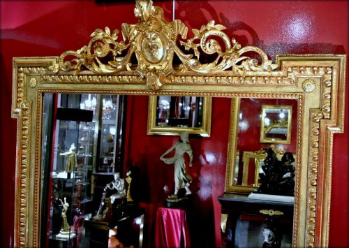 Pediment mirror late 19th century -