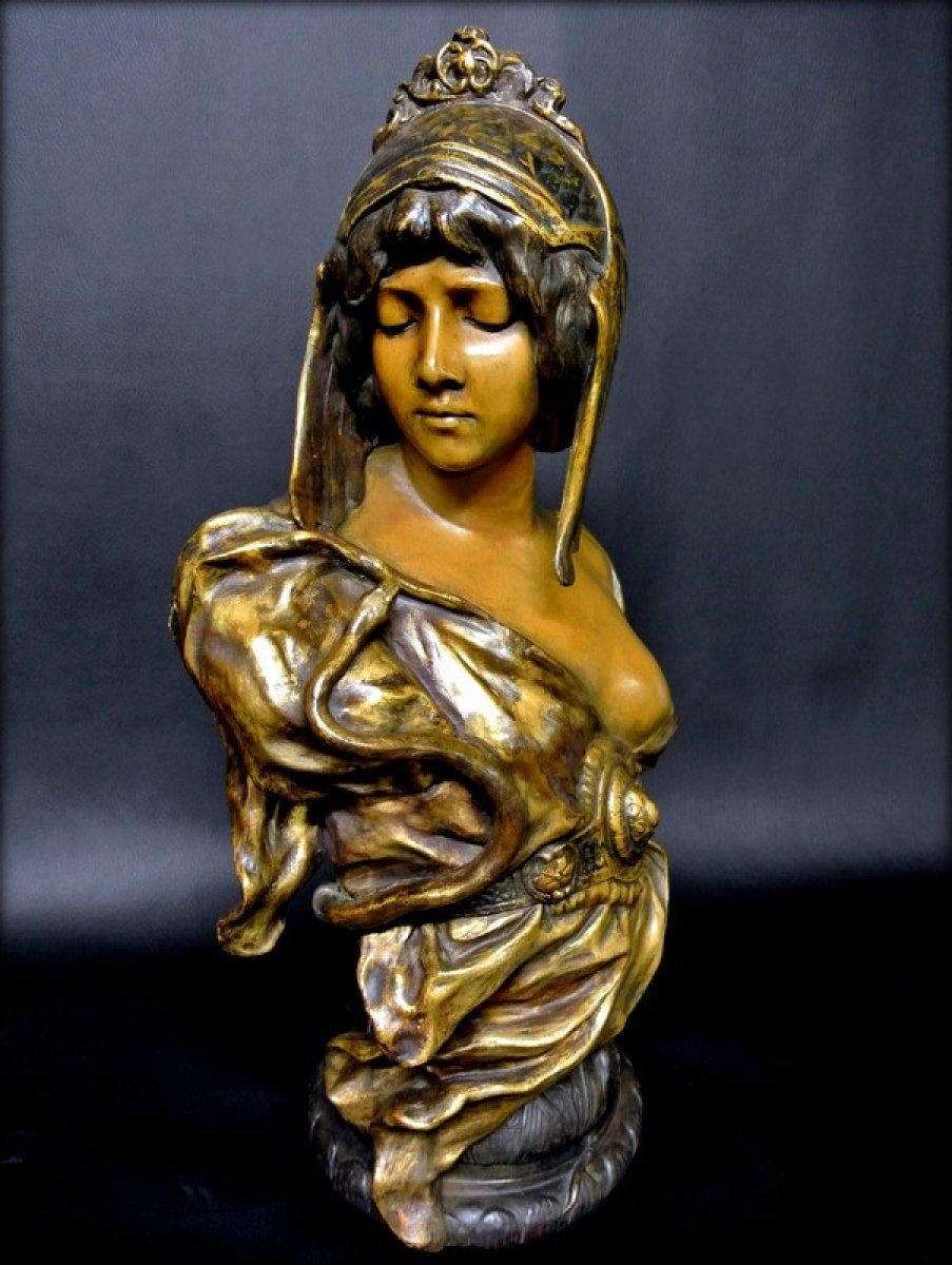 Cleopatra 19th Century Terracotta Bust Ref 46971