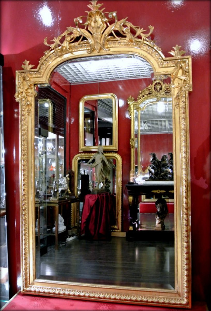 Miroir d poque napol on iii xixe si cle for Miroir napoleon iii