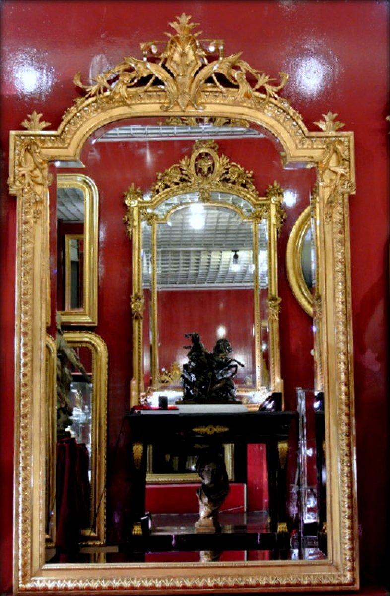 Miroir d poque napol on iii xixe si cle for On traverse un miroir