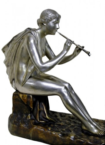 Muse bronze signed OBIOLS