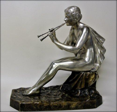 Muse bronze signed OBIOLS - Sculpture Style Art Déco