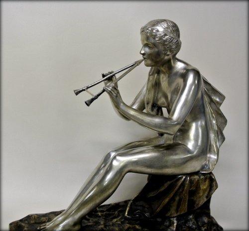 Sculpture  - Muse bronze signed OBIOLS
