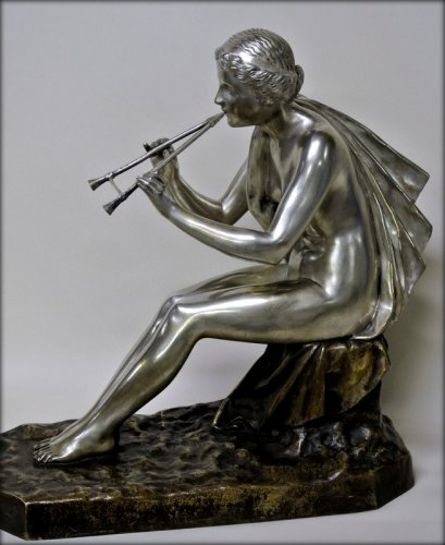 20th century - Muse bronze signed OBIOLS