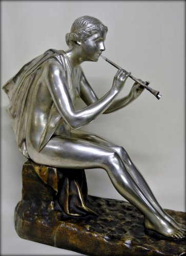 Antiquités - Muse bronze signed OBIOLS
