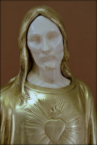 Art Déco - Sacred heart of Jesus, signed P Gasq