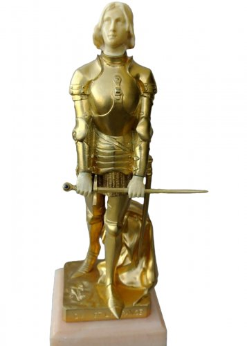 Joan of Arc in armor by Georges SAULO