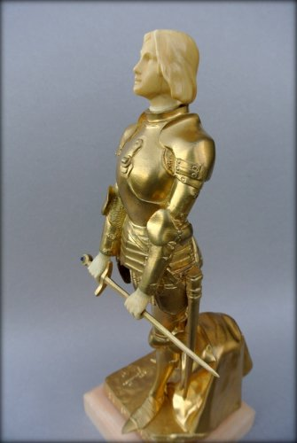 Joan of Arc in armor by Georges SAULO - Art Déco