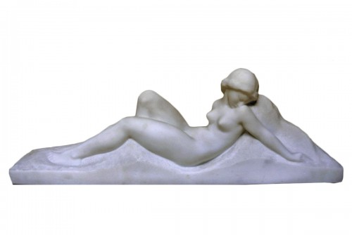 Art Deco Marble Sculpture signed Gennarelli