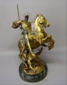 """""""Saint Georges terrassant le dragon"""" par E. FREMIET"""