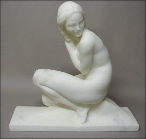 Sculpture  - Marble sculpture signed J. Ortis