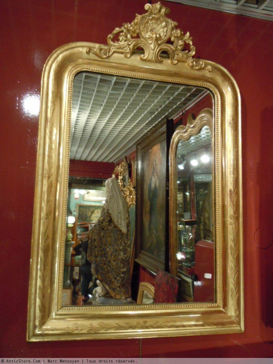 Miroir louis philippe antiquit s sur anticstore for Miroir louis philippe