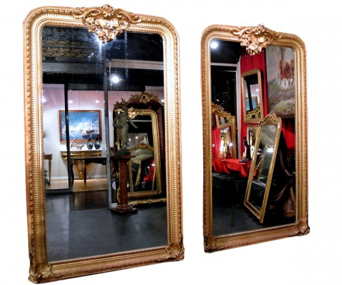 Pair of very large mirrors nineteenth
