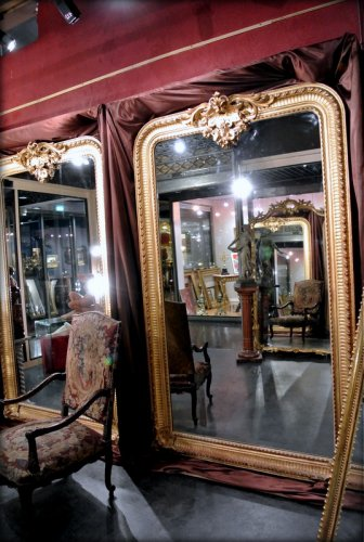 Mirrors, Trumeau  - Pair of very large mirrors nineteenth