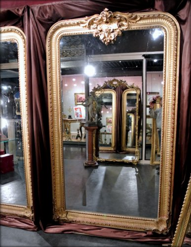 Antiquités - Pair of very large mirrors nineteenth