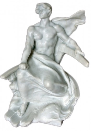 Carrara marble Sculpture by G COLIN